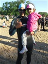 Deepak and his daughter at Syracuse 70.3